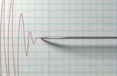 Polygraph Needle And Drawing — Stock Photo