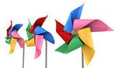 Colorful Pinwheels Isolated — Stock Photo