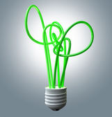Light Bulb Green Energy Flourescent — Stock Photo