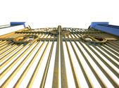 Heavens Golden Gates Isolated — Stock fotografie