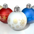 Colorful Ornate Christmas Baubles — Stock Photo #48722795