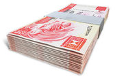 Hong Kong Dollar Notes Bundles — Stock Photo