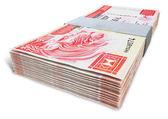 Hong Kong Dollar Notes Bundles — Stock Photo