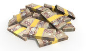 Canadian Dollar Notes Scattered Pile — Stock Photo