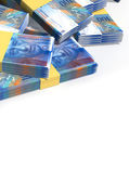 Swiss Franc Notes Scattered Pile — Stock Photo