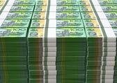 Australian Dollar Notes Pile — Stock Photo