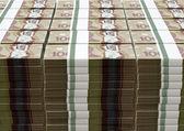 Canadian Dollar Notes Bundles Stack — Zdjęcie stockowe