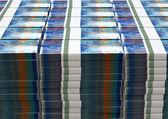 Swiss Franc Notes Bundles Stack — Zdjęcie stockowe
