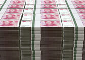 Yuan Notes Stacked Pile — Stock Photo