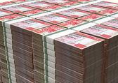 Hong Kong Dollar Notes Bundles Stack — Stock Photo