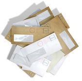 Scattered Envelopes — Zdjęcie stockowe
