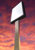 Light Box Vertical On Red Sky — Foto Stock