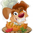 Royalty-Free Stock Immagine Vettoriale: Smiling dog the chef with plate