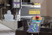 Engraving machine for material processing with a remote control — Stock Photo