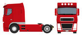 Red truck — Stock Vector