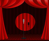 Stage for one man show — Stock Vector