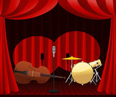 Stage for Jazz show — Stock Vector