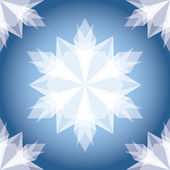White Paper Christmas Snowflake. Seamless Pattern — Vecteur