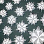 White Paper Christmas Snowflake — Stock Vector