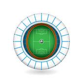 Vector soccer stadium icon. 3d — Stock Vector