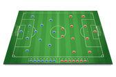 サッカー戦術テーブル — ストックベクタ