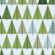 Christmas Vintage Background With Tree. Retro Christmas Tree — Stockvektor