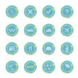 Set of travel icons. — Stockvectorbeeld
