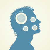 Concept of the Function Human Head. Vector Illustration — Stock Vector