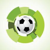 Football Sign. Soccer Ball. Vector Illustration — Stock Vector