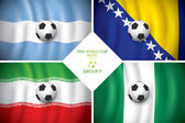 Brazil 2014 group F. Vector flag with shadow. FIFA word cup. — Stock Vector
