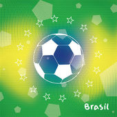 Abstract vector background in Brazil flag concept. — Stock Vector