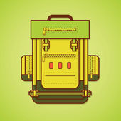Camping equipment. Backpack. Vector illustration — Vecteur