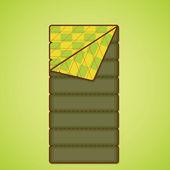 Camping equipment. Sleeping bag. Vector illustration — Stock Vector