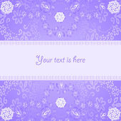 Abstract card on lilac background — Stock Vector