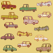 Cars on background — Stock Vector