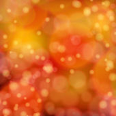 Lights on red orange background bokeh effect. — Vector de stock