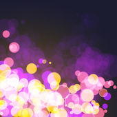 Lights on festive cosmos bokeh background — Vector de stock