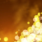 Lights on yellow background bokeh effect. — Vector de stock