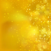 Lights on yellow background bokeh effect. — 图库矢量图片