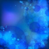 Lights on blue background bokeh effect. — Stock Vector