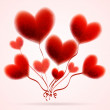 Valentines Day Heart Balloons on white Background — Wektor stockowy