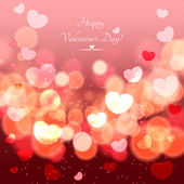 Glow Soft Hearts Valentines Day Background — Stock Vector