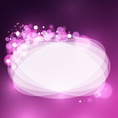 Lights on frame bokeh background — Stockvector