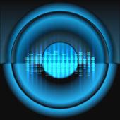 Equalizer wit speaker vector background — Stock Vector