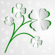 St. Patricks day background with clover — Stock Vector
