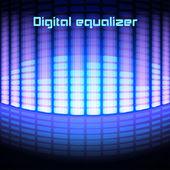 Shining magenta digital equalizer background — Stock Vector