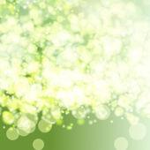 Vector green lights background. — Stockvector
