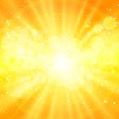 Shiny sun vector, sunbeams, sunrays — Stock Vector