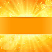 Shiny sun vector with place for text — Stock Vector