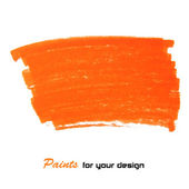 Orange vector abstract hand painted — Vettoriale Stock
